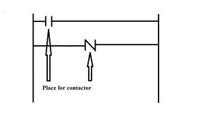 Basic components place in Ladder Diagram - contact