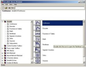 The Simulink library browser